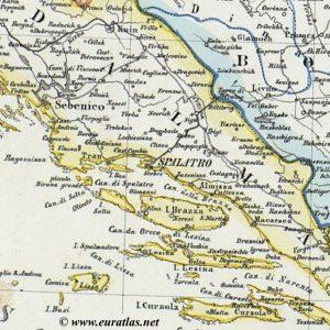 Croatia, Slavonia, Military Frontier-Handtke - Dalamatia-1865