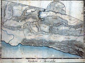 Karta Imotske Krajine iz doba austrijske vladavine