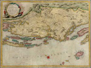 Nouvelle carte de la partie orientale de Dalmatie-Santini-1780